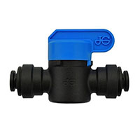 Inch Black Polypropylene Speedfit to Speedfit Straight Shut-Off Valves