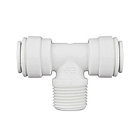Inch White Polypropylene Fixed Tee Fittings