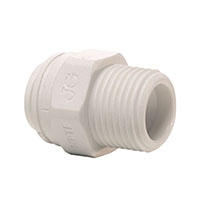 Inch White Polypropylene Male Connector Fittings