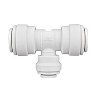 Inch White Polypropylene Reducing Tee Fittings