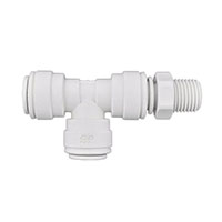 Inch White Polypropylene Swivel Male Run Tee Fittings