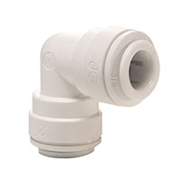Inch White Polypropylene Union Elbows