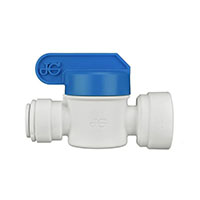 3/8 Inch (in) Tube Outside Diameter and 3/8 Inch (in) Thread Size Polypropylene Speedfit To Female Shut-Off Valve