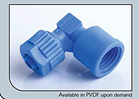Female Elbow Connector 6 mm x 1/8 in.
