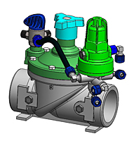 Trio Tech 3-Way Plastic Valve Drawing