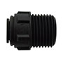 Inch Black Polypropylene Male Connector Fittings