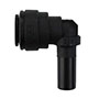 Inch Black Polypropylene Plug-In Elbows