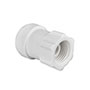 Inch White Polypropylene Faucet Connector Fittings
