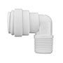 Inch White Polypropylene Fixed Elbows