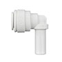 Inch White Polypropylene Plug In Elbows