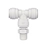 Inch White Polypropylene Swivel Branch Tee Fittings