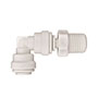 Inch White Polypropylene Swivel Elbows