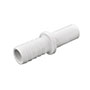 Inch White Polypropylene Tube to Hose Stem Fittings