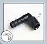 Male Elbow Hose Connector 1/4  in. x 12 mm Black